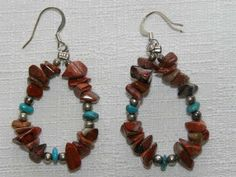 Native American Indian Jewelry -Tigua Earrings (106)