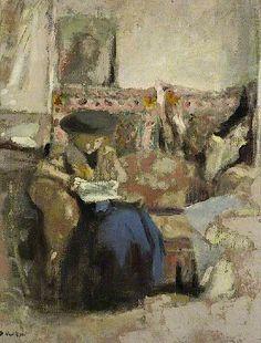 Seated Woman, Reading / Jean Edouard Vuillard