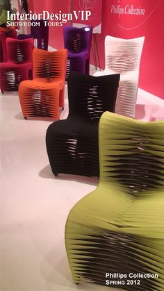 Hunger Games Chairs at #HPMKT in the @Phillips Collection Showroom at the Spring 2012 High Point #Furniture Market. Photo by @Chris Sparks, Founder & Editor of InteriorDesignVIP. #InteriorDesign