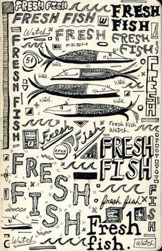 Fresh fish sketchbook