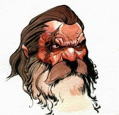 Dwarf with scar