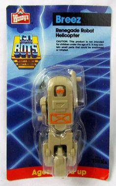 Vtg 1985 GoBots BREEZ Helicopter Wendy's Exlusive Factory Sealed New MOC Tonka #Tonka