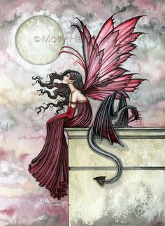 The Fairy Art and Fantasy Art of Molly Harrison: Dragon Art Prints, Dragons and Fairies