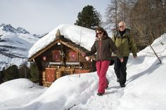 Winter walking in Zermatt, Switzerland. Pie always going there as Zermatt only 15 minutes from Rechthalten