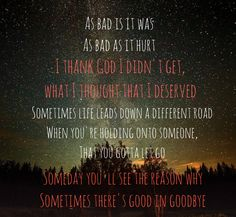 Good In Goodbye- Carrie Underwood lyrics