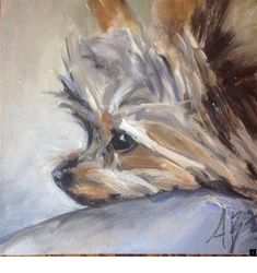 Everything About The Yorkshire Terrier Dogs Personality Silky Terrier, Yorkshire Terriers, Yorkies, Yorkie Dogs, Animal Paintings, Animal Drawings, Indian Paintings, Dog Portraits, Dog Art