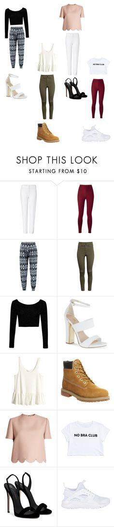 """cute outfits"" by desigirl12 on Polyvore featuring ESCADA, Boohoo, H&M, Carvela, Timberland, Valentino, Giuseppe Zanotti and NIKE"