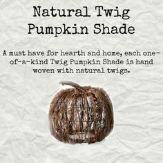 Pink Zebra's natural Twig Pumpkin Shade. This shade is so versatile it can be…