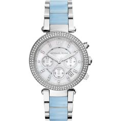 Michael Kors Ladies Parker Stainless Steel Ceramic Watch