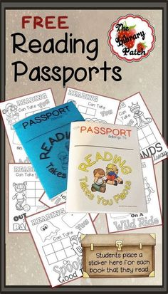 What a fun alternative to reading logs! Elementary students keep track of their reading by adding stickers to a FREE Reading Passport. 2nd Grade Reading, Kids Reading, Teaching Reading, Free Reading, Reading Logs, Reading School, Guided Reading, Reading Intervention Classroom, Reading Lessons