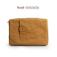 Hand Made New Fashion Idea Brief Bag Case Document Case Washable Kraft Craft Paper -KE-35 ($42.00) - Svpply
