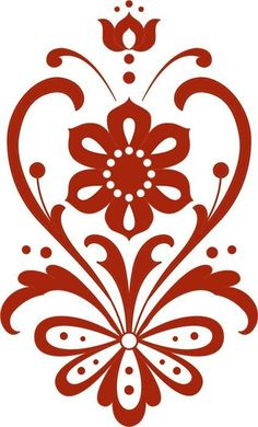 New Vintage Retro Style Antigua Ideas Stencil Patterns, Stencil Designs, Embroidery Patterns, Machine Embroidery, Folk Embroidery, Stencils, Norwegian Rosemaling, Diy And Crafts, Paper Crafts