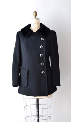 1960s black wool coat