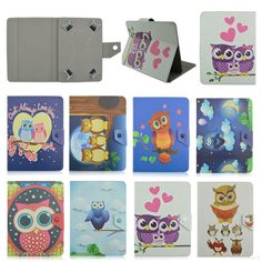 """Owl style Stand Flip Leather Case For teXet TM-7846 7.0 inch universal case 7"""" tablet Cover Cases Coque+screen protectors #Affiliate"""