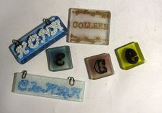 recycled glass nametags