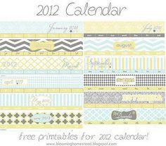FREE calendar printables!