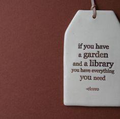 Ceramic book quote tags