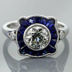 Vintage Platinum Milgrain Ring