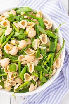 All of your favorite spring vegetables tossed with pasta and a lemony dressing! (gluten free, vegan)