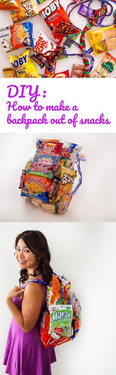 How to make a backpack out of snacks: DIY MunchPak Tutorial