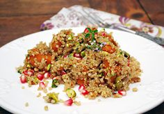 Enjoying Fall Flavors: Quinoa Pilaf with Butternut Squash & Pomegranate | Family Spice