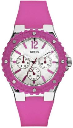 Guess Ladies Overdrive White Sport Watch W90084L2