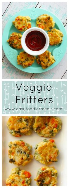 Veggie Fritters Packed with 5 veggies and 10 minutes to make! The post Veggie Fritters appeared first on Toddlers ideas. Toddler Finger Foods, Easy Toddler Meals, Toddler Lunches, Kids Meals, Toddler Recipes, Baby Finger, Veggie Recipes For Toddlers, Toddler Friendly Meals, Fingerfood Baby