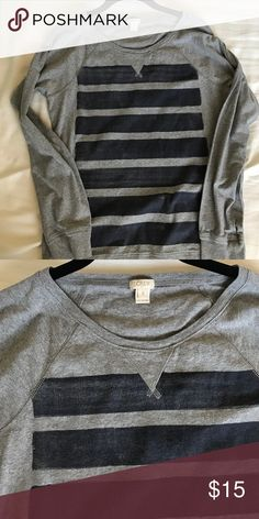 J.crew long sleeve top Worn a few times and it's so cute and comfy! Love the stripes on it! J. Crew Tops Tees - Long Sleeve