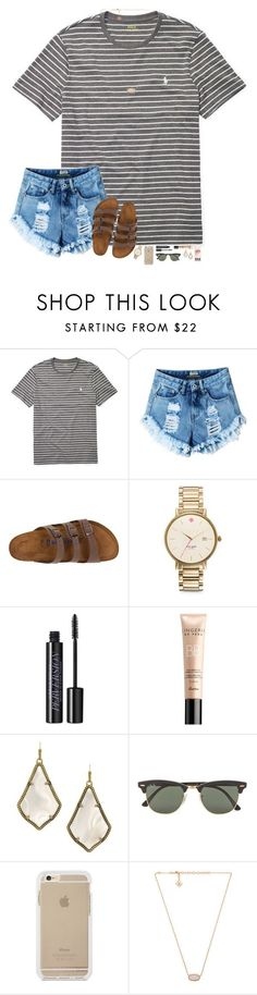 hanging out with Shaylen Morgan... aka da baeeeee  by hopemarlee ❤ liked on Polyvore featuring Ralph Lauren, Birkenstock, Kate Spade, Urban Decay, Guerlain, Kendra Scott and Ray-Ban