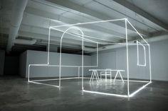 massimo uberti sculpts neon light for bentley elements in the miami design… Dezeen Architecture, Light Architecture, Architecture Design, Neon Lighting, Lighting Design, Bentley Design, Neon Licht, Wallpaper Magazine, Retail Design