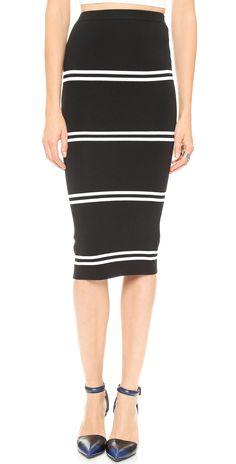 Line II Dion Lee Striped Rib Skirt | SHOPBOP