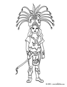 mayan princess coloring page