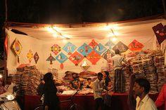 The Lane That Never Sleeps On Makar Sakranti .. Kite Shops Imamwada
