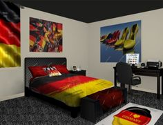 German Flag Wall Murals, add a touch of German pride. See our German Flag designs at http://www.visionbedding.com/WallMurals/GermanFlag.php