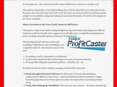 Traders of Different Levels Can Benefit from Forex Profit Caster #forex_profit_caster_review #forex_profit_caster #bill_poulos_forex_profit_caster