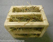 PINE PLY WOOD HAY RACK CAGE TOY FILLED WITH HAY, RABBIT,GUINEA PIG,CHINCHILLA