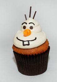 Olaf cupcake - #Frozen #wdw