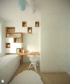 Pokój dziecka styl Skandynawski - zdjęcie od Studio Monocco - Pokój dziecka - Styl Skandynawski - Studio Monocco Girl Nursery, Girls Bedroom, Design Girl, Kidsroom, Modern Farmhouse, Corner Desk, Small Spaces, Barn, Relax