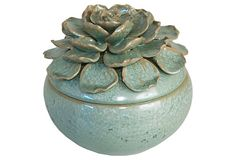 Floral Ceramic Box on OneKingsLane.com