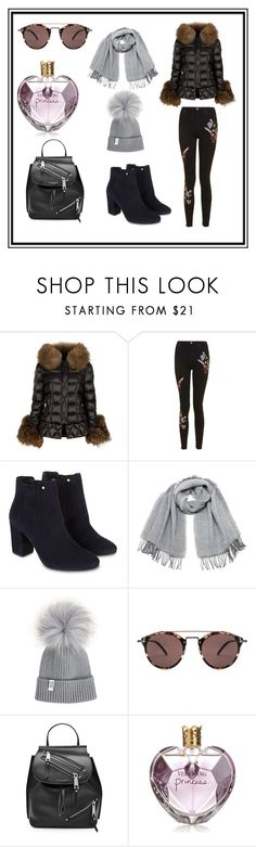 """""""Untitled #12"""" by jasmina-ishak ❤ liked on Polyvore featuring Holland Cooper, Topshop, Monsoon, Vero Moda, Oliver Peoples, Marc Jacobs and Vera Wang"""