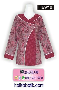 Model Baju Kerja Wanita, Grosir Busana, Gambar Baju Batik, FBW10