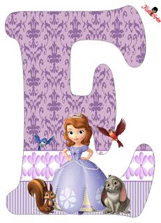 Letra F Princess Sofia disney Princess Sofia Birthday, Sofia The First Birthday Party, 3rd Birthday Parties, Baby Birthday, Toy Story Birthday, Mickey Mouse Parties, Mickey Mouse Birthday, Mickey Mouse Clubhouse, Fete Emma
