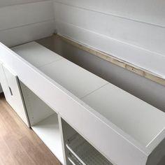 Bedroom Closet Storage, Bed In Closet, Kids Beds With Storage, Bed Storage, Boys Cabin Bed, Box Room Beds, Girl Room, Girls Bedroom, Small Teen Room