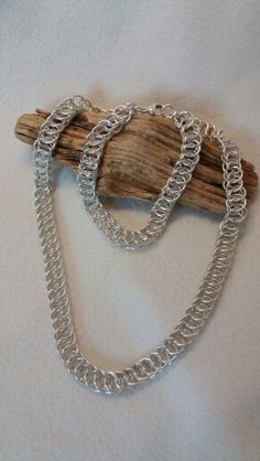 Persian chain maille necklace and bracelet