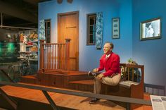 The Heinz History Center in Pittsburgh, Pennsylvania has recreated the set of the classic American children's television show Mister Rogers' Neighborhood, which had been produced in Pittsburgh thro...