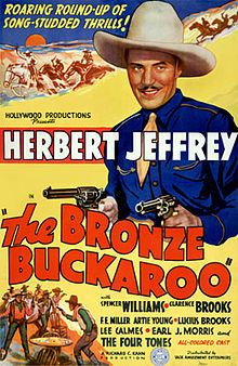 The Bronze Buckaroo is a 1939 American film directed by Richard C. Kahn. It is one of a number of race films, made by African-American directors and performers for African-American audiences. The Bronze Buckaroo stars black cowboy singer Herb Jeffries.