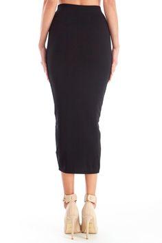 Length length on point.  Daphne Knit Midi Pencil Skirt