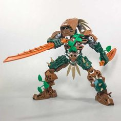 Post with 9 votes and 563 views. Shared by Arboreus. Warrior of the Woods. Bionicle Heroes, Lego Bionicle, Lego Knights, Lego Sculptures, Lego Robot, Lego Mechs, Hero Factory, Cool Lego Creations, Lego Design