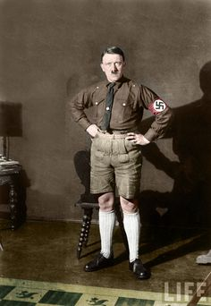 The antichrist Hitler wearing lederhosen by ingyaningya on deviantART