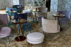 FLEXFORM FEEL GOOD ARMCHAIRS AND OTTOMANS, designed by Antonio Citterio furnish the exclusive ‪#‎ChopardRooftop‬ at the Hotel Martinez during the Festival de Cannes 2016.